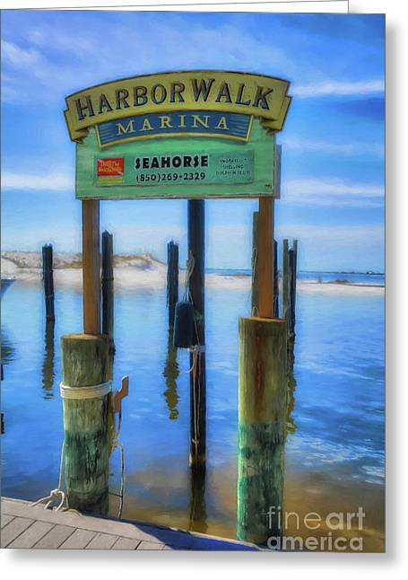 Harbor Walk At Destin Florida # 3 Greeting Card by Mel Steinhauer