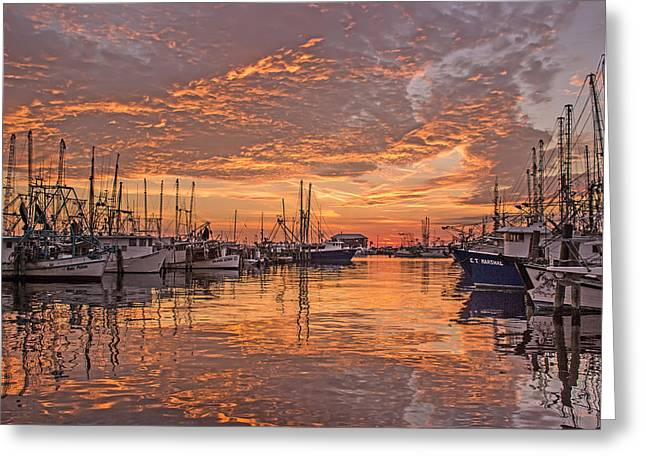 Harboring Reflections Greeting Card by Brian Wright