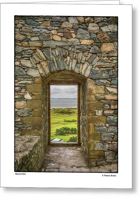 Harlech View Greeting Card by R Thomas Berner