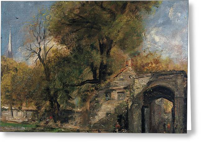 Harnham Gate, Salisbury Greeting Card by John Constable