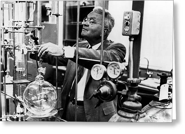 Harold Urey, American Chemist Greeting Card by Science Source