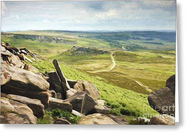 Hathersage Moor Greeting Card by Julie Woodhouse