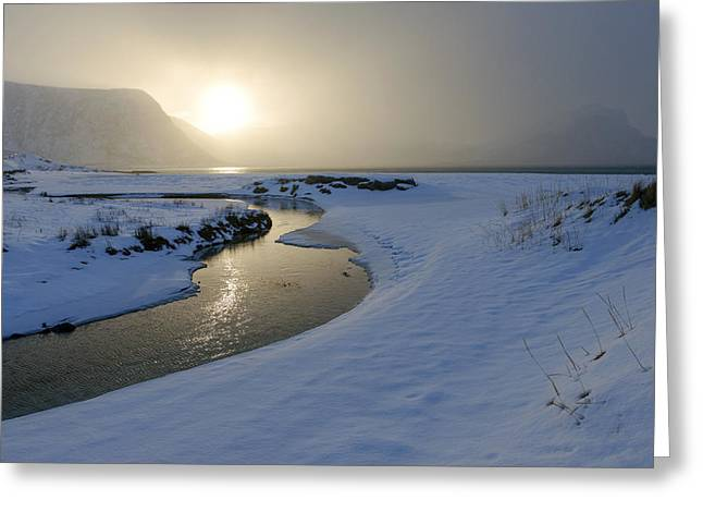 Haukland Beach, Lofoten Greeting Card