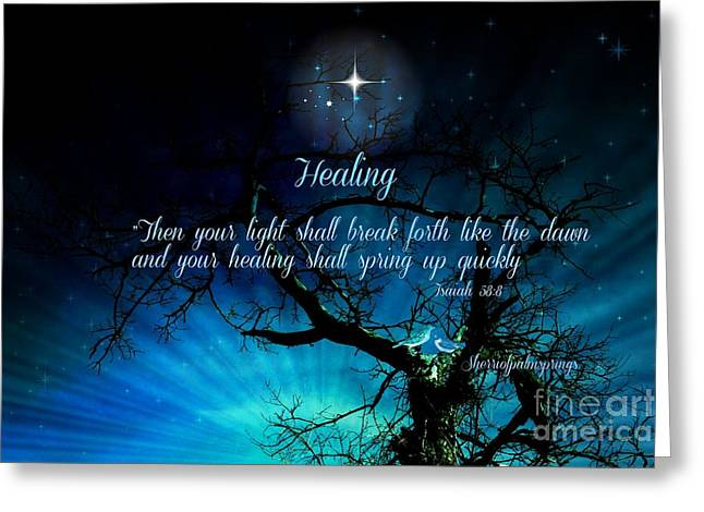 Greeting Cards - Healing Art by Sherri of Palm Springs Greeting Card by Sherri  Of Palm Springs