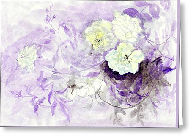 Healing Roses -12 Greeting Card by Sweeping Girl