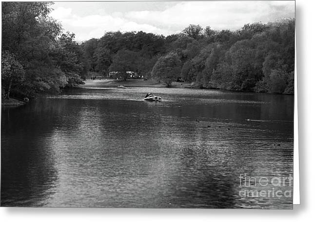Heaton Park Boating Lake Greeting Card