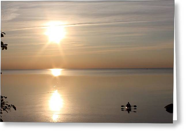 Heavenly Kayak Greeting Card by Pat Purdy
