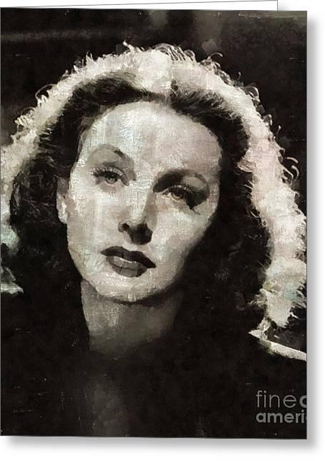 Hedy Lamarr, Actress Greeting Card