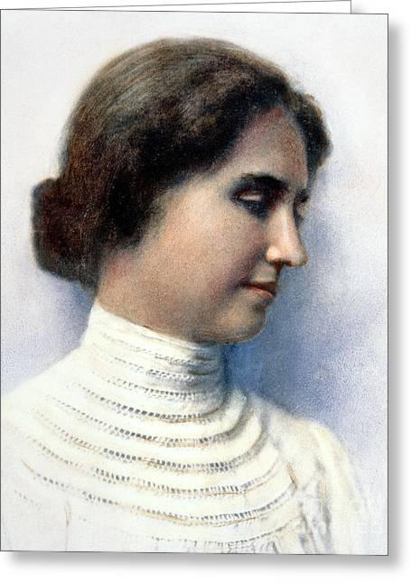 Helen Keller (1880-1968) Greeting Card by Granger