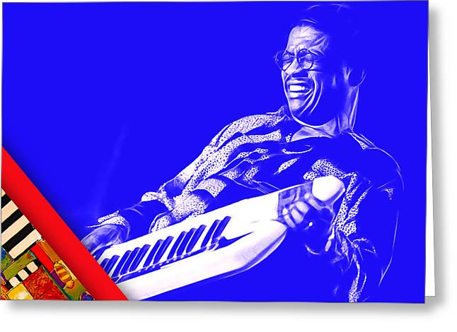 Herbie Hancock Collection Greeting Card by Marvin Blaine