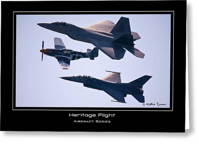 Heritage Flight Greeting Card by Mathias Rousseau