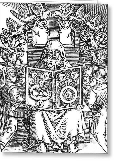 Hermes Trismegistus, Creator Greeting Card by Science Source