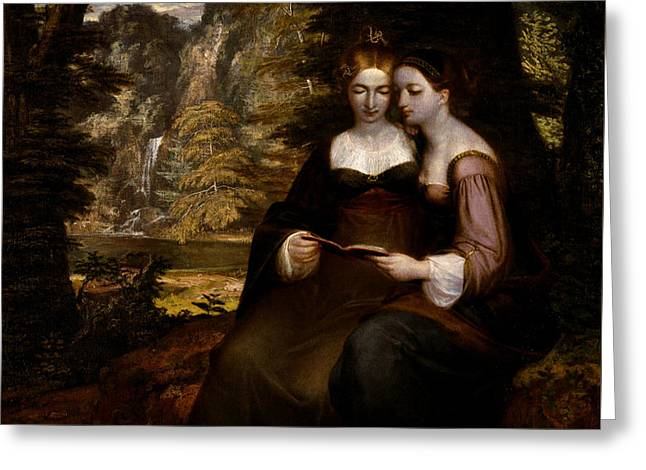 Hermia And Helena Greeting Card by Celestial Images