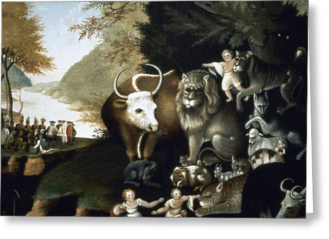 Hicks: Peaceable Kingdom Greeting Card by Granger