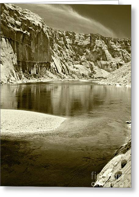 Greeting Card featuring the photograph Hidden Cove by Pete Hellmann