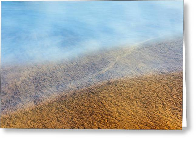 High Angle View Of Waves On The Beach Greeting Card by Panoramic Images