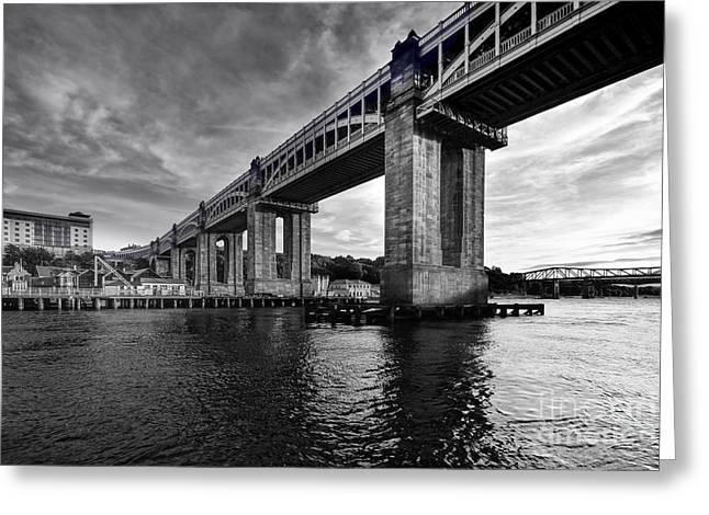 High Level Bridge Greeting Card by Nichola Denny