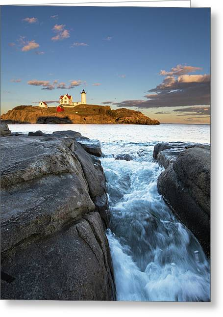 High Tide Greeting Card by Mircea Costina Photography