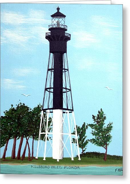 Hillsboro Inlet Lighthouse Greeting Card by Frederic Kohli