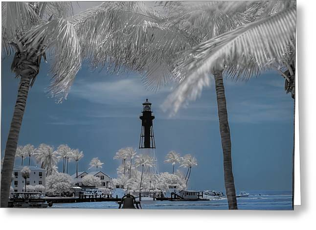 Greeting Card featuring the photograph Hillsboro Inlet Lighthouse by Louis Ferreira