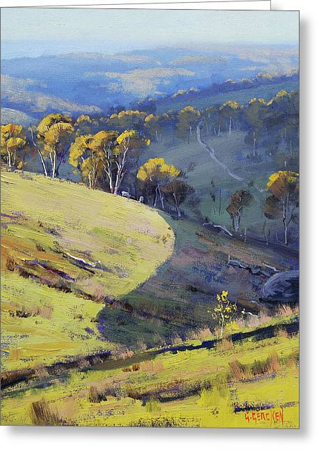 Hillside Shadows Greeting Card