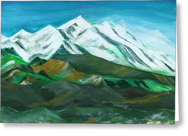 Himalaya Greeting Card by Anil Nene