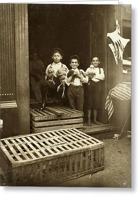 Hine: Child Labor, 1908 Greeting Card by Granger
