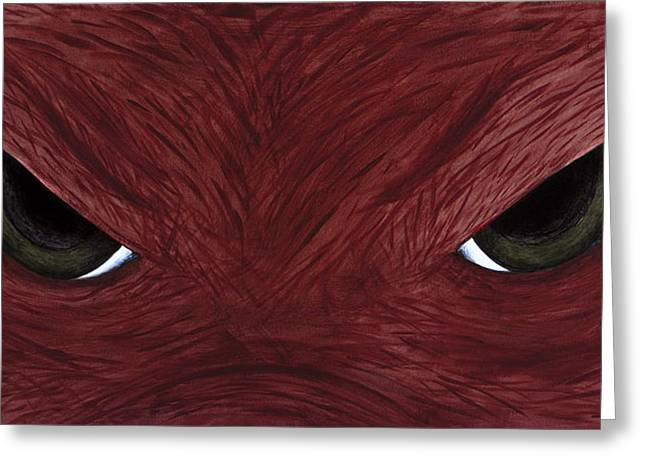 Hog Eyes Greeting Card by Amy Parker