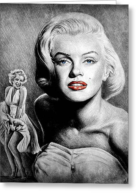 Hollywood Greats Marilyn Greeting Card by Andrew Read