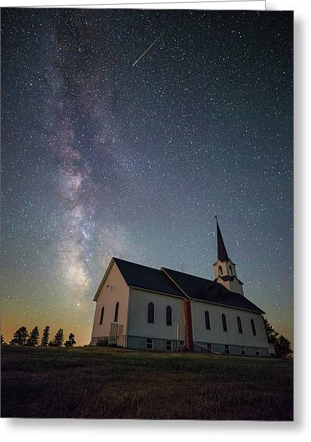 Greeting Card featuring the photograph Holy  by Aaron J Groen