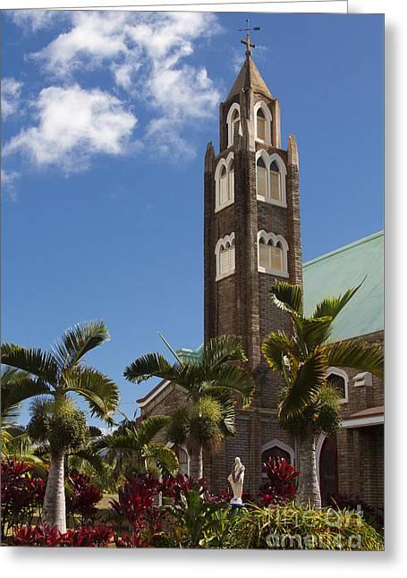 Holy Rosary Church Paia Maui Hawaii Greeting Card by Sharon Mau