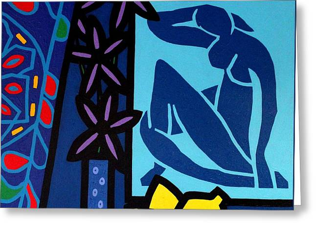 Homage To Matisse I Greeting Card