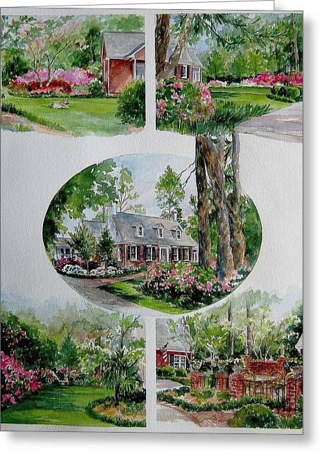 Home Collage Greeting Card by Gloria Turner