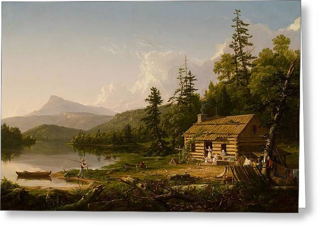 Home In The Woods Greeting Card by Thomas Cole