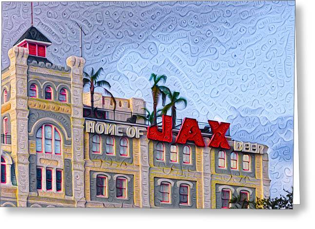Home Of Jax Beer Greeting Card by Bill Cannon