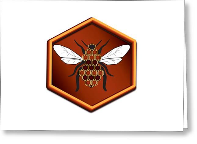 Honeycomb Bee Greeting Card