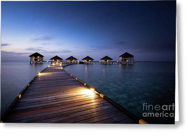 Greeting Card featuring the photograph Honeymooners Paradise by Hannes Cmarits
