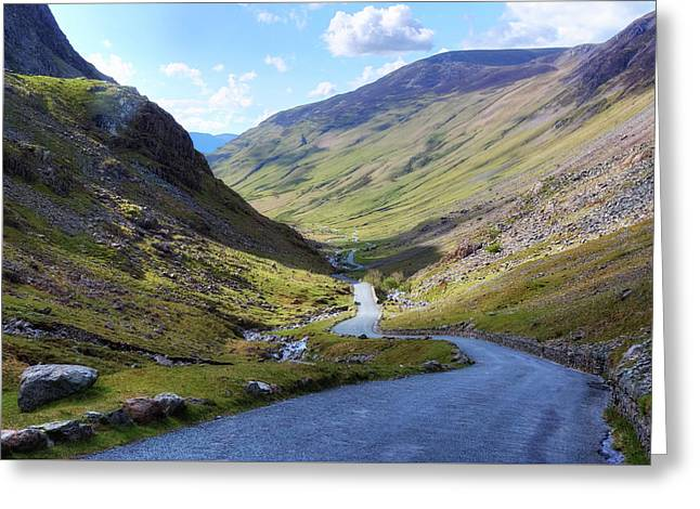 Honister Pass - Lake District Greeting Card by Joana Kruse