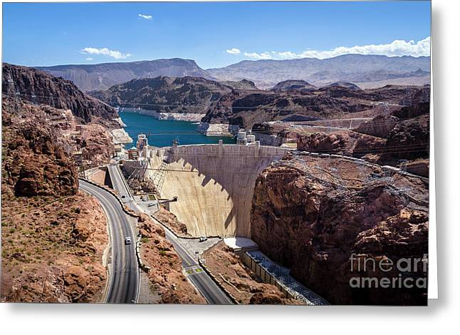 Hoover Dam Greeting Card by RicardMN Photography
