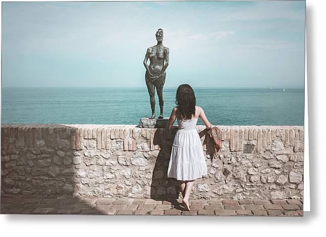 Horizon Greeting Card by Marji Lang