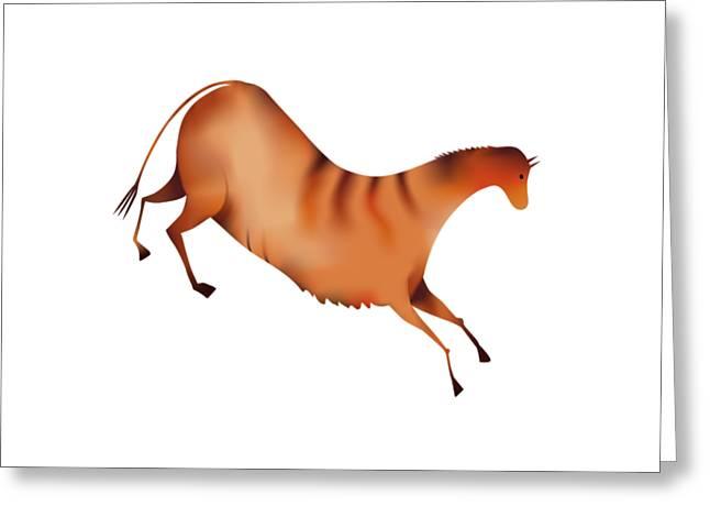 Horse A La Altamira Greeting Card