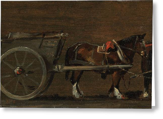 Horse And Cart Greeting Card by John Constable