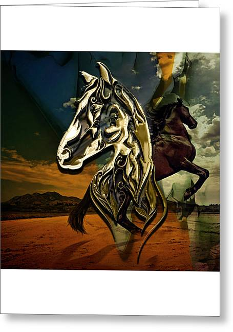Horse Art Collection Greeting Card by Marvin Blaine