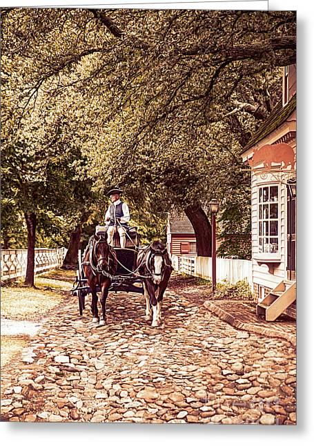 Horse Drawn Wagon Greeting Card