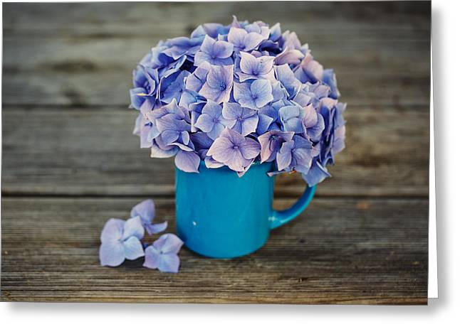 Hortensia Flowers Greeting Card