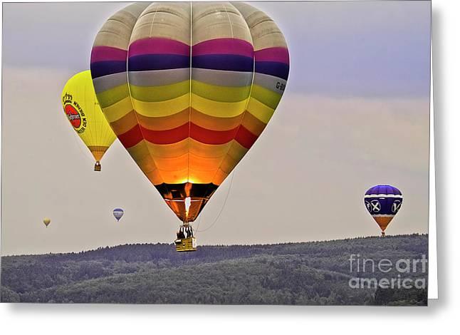 Hot-air Balloning Greeting Card by Heiko Koehrer-Wagner