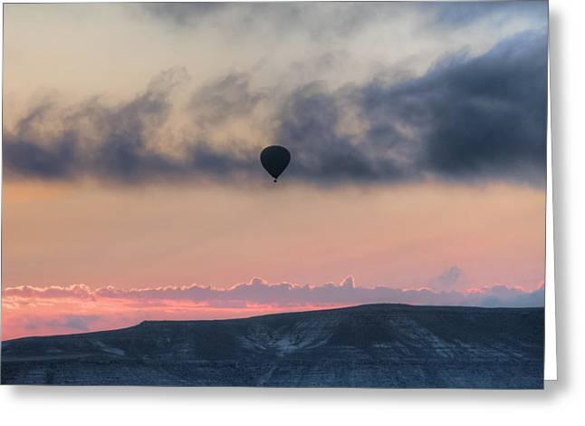 Hot Air Balloon Cappadocia Greeting Card by Joana Kruse