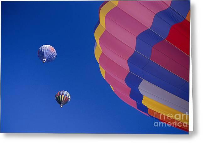 Hot Air Balloons Greeting Card by Greg Vaughn - Printscapes