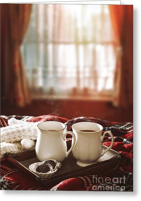 Hot Chocolate Drinks Greeting Card by Amanda Elwell