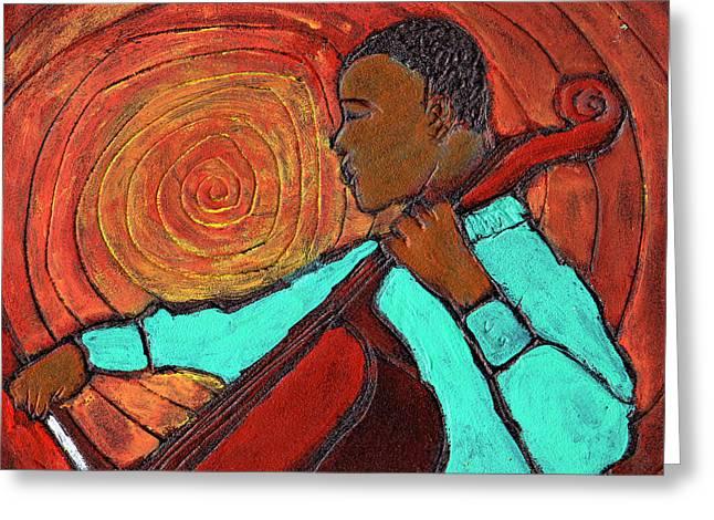 Hot Jazz Greeting Card by Wayne Potrafka